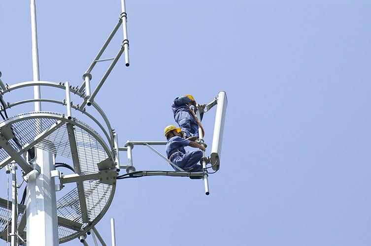 Base station antenna installation